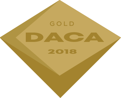 Icon of gold DACA 2018 certification for a PDR technician.