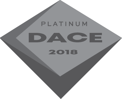 Icon of platinum DACE 2018 certification for a PDR technician.